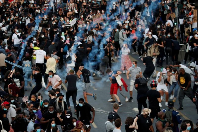 French police disperse crowd marking 2016 death of black man 69