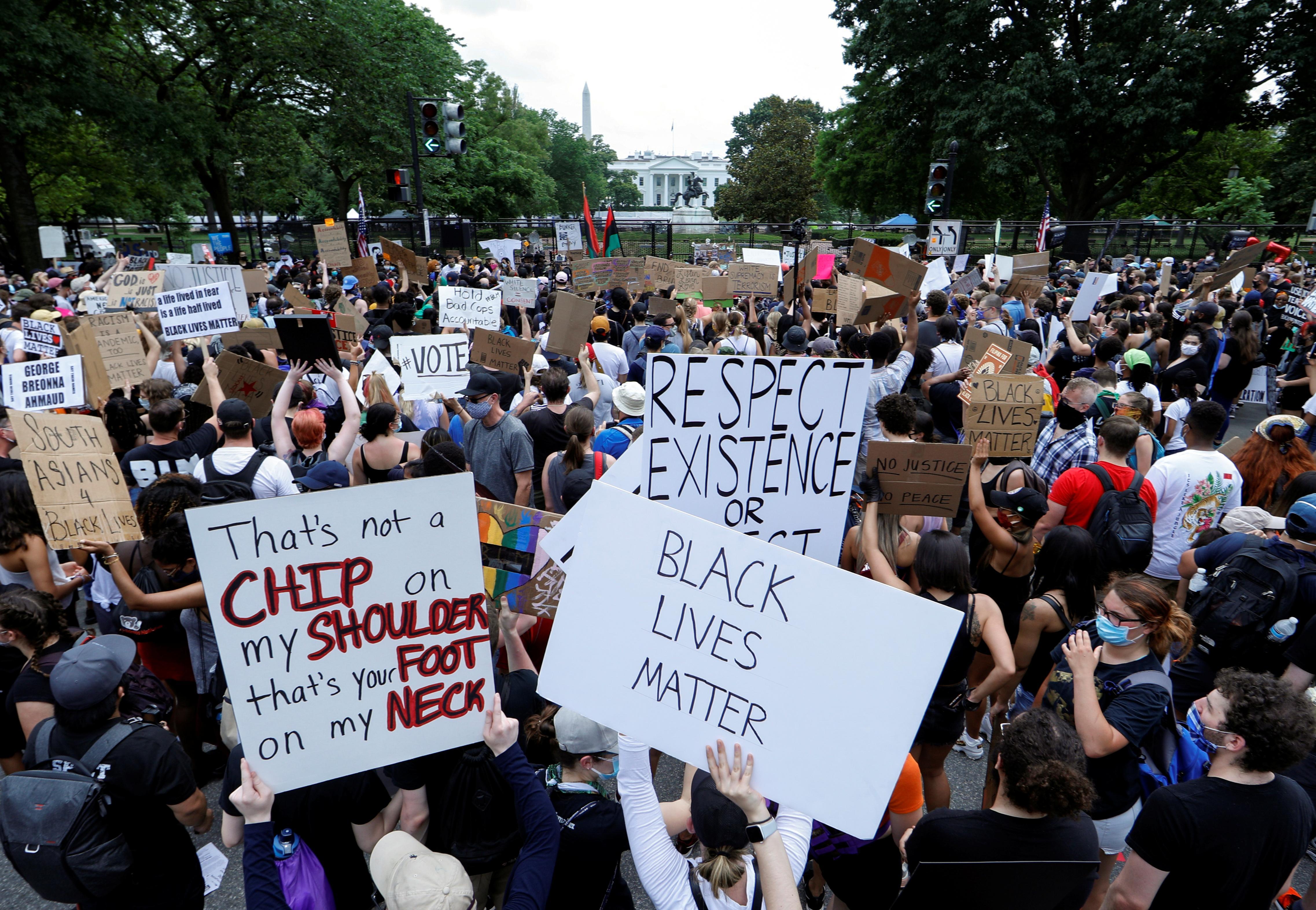 « Une partie de l'histoire '': le calme l'emporte sur la plus grande manifestation de George Floyd de D.C.