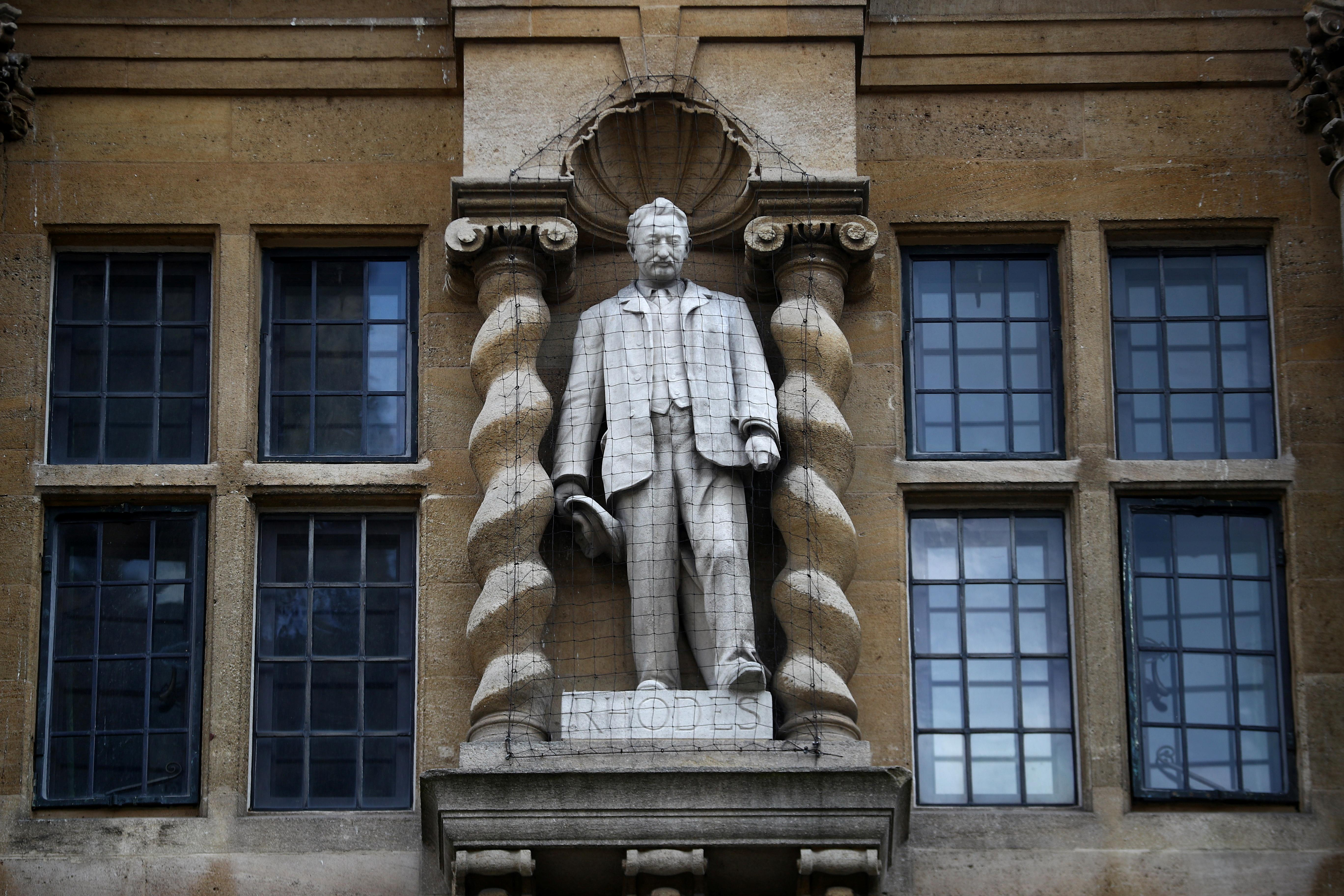 Rhodes Must Fall - Oxford protesters target statue of colonialist