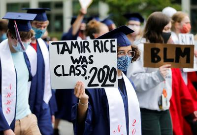 Seattle high school graduates march against racial inequality