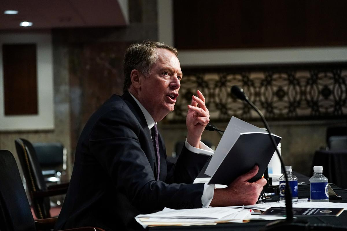 U.S. pulled out of talks on digital services taxes: Lighthizer
