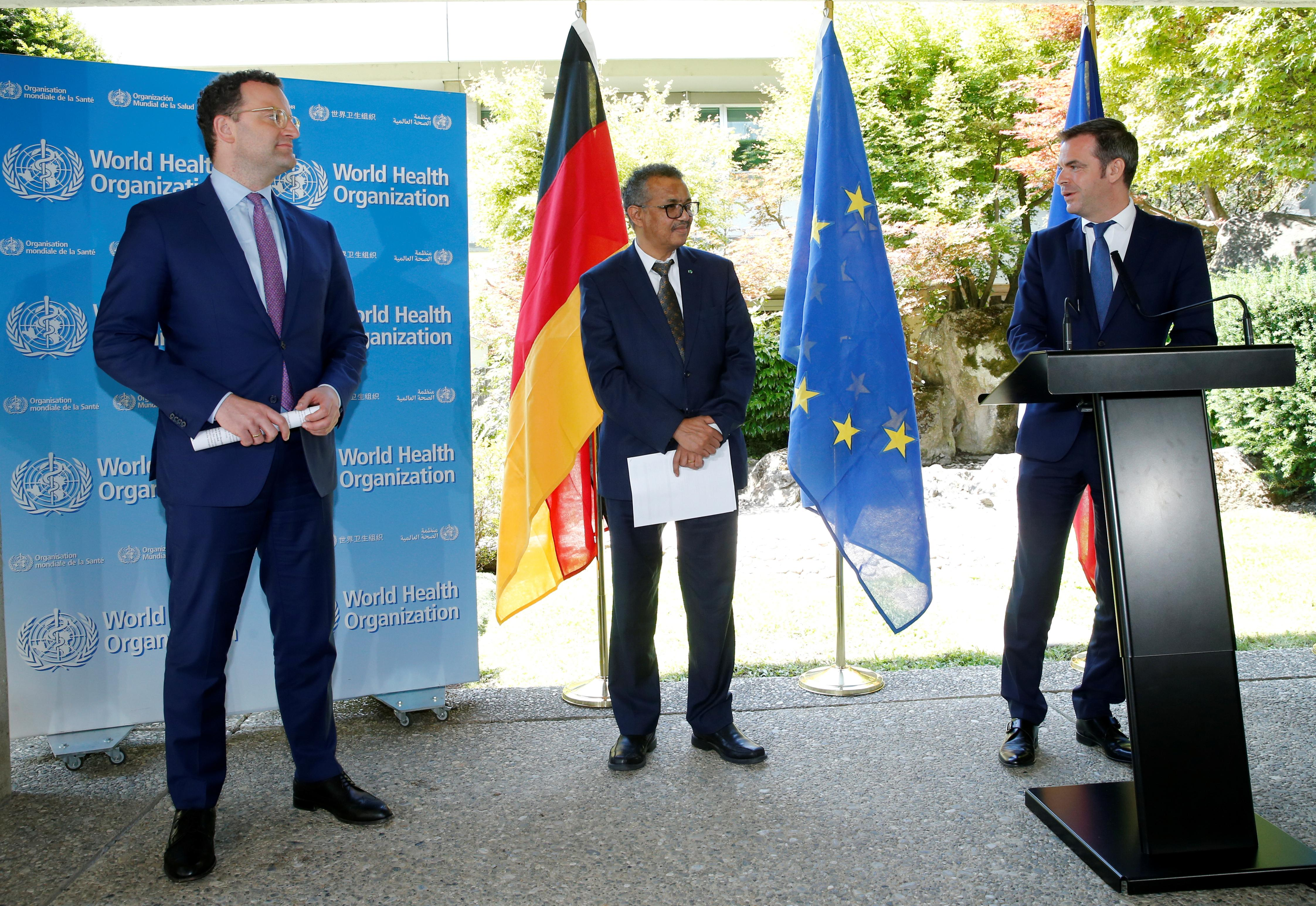 Germany, France shore up political, financial aid to beleaguered WHO