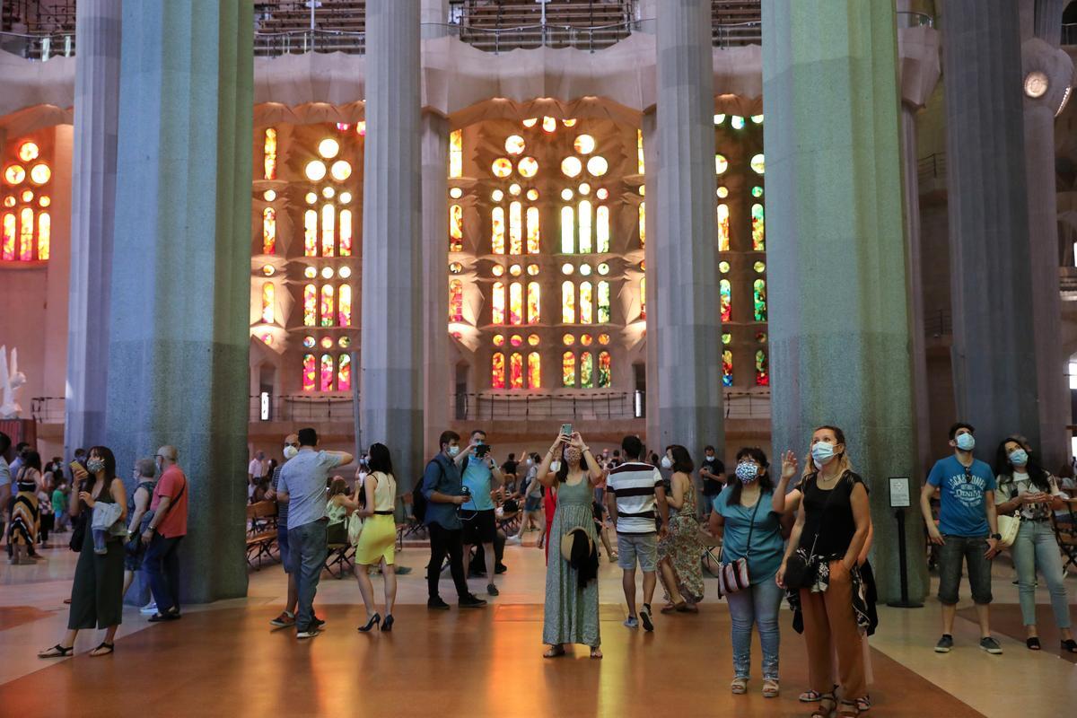Barcelona's landmark Sagrada Familia reopens for key workers