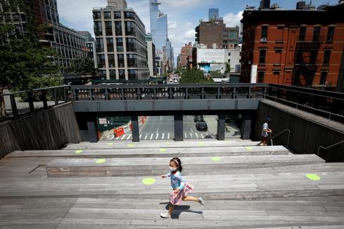 Manhattan's High Line Park reopens