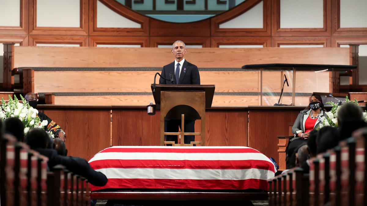 WATCH: Civil Rights Attorney Criticizes Former President Obama for Political Speech at John Lewis' Funeral