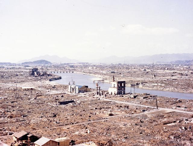 Devastation is seen in the vicinity of \u0027ground zero\u0027 after the atomic bombing of Hiroshima, Japan, 1945.   U.S. Air Force/via REUTERS