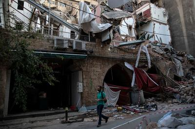 Beirut's devastated cityscape in aftermath of blast