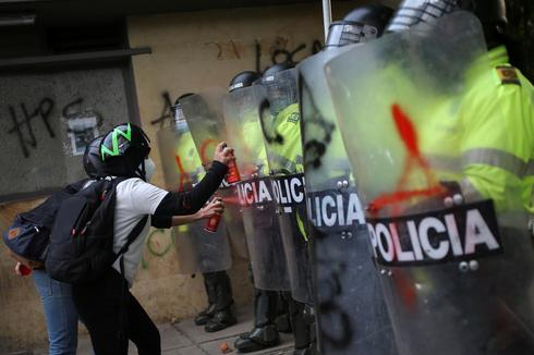 Protests against police violence erupt in Colombia