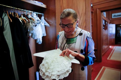 Collector of collars: A look back at Ruth Bader Ginsburg's signature jabots