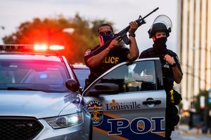 Protests in Louisville after Breonna Taylor ruling