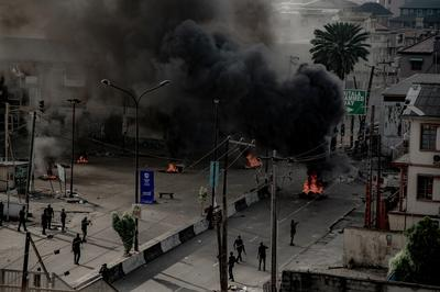 Nigeria's Lagos locked down after protesters fired on