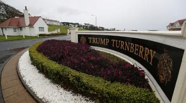 A view of the hotel at the Trump Turnberry Golf Resort Turnberry, Scotland