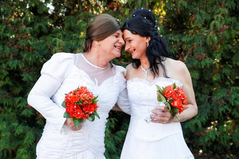 Transgender couple wed in Hungary amid LGBT hostility