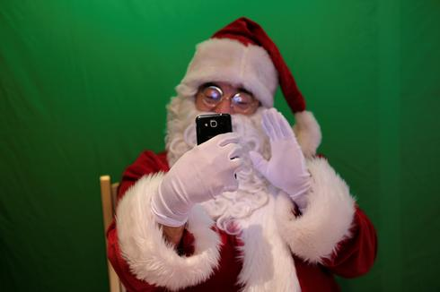Socially distanced Santa