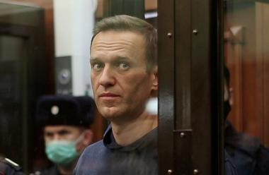 FILE PHOTO: Russian opposition leader Navalny attends a court hearing in...