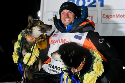 Sled dogs and social distancing at Iditarod