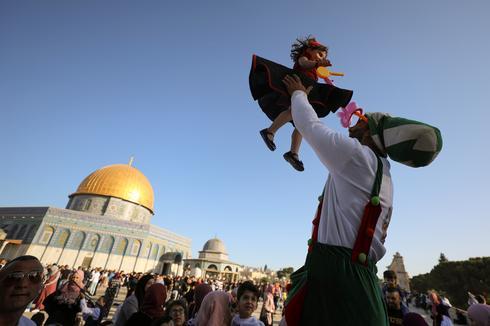 Palestinians celebrate Eid in Jerusalem's Old City