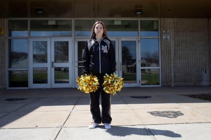 Levy, a former cheerleader at Mahanoy Area High School, poses in an undated...