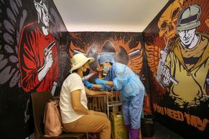 Unusual COVID vaccination venues