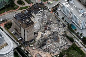 Desperate search for survivors after Miami building collapse