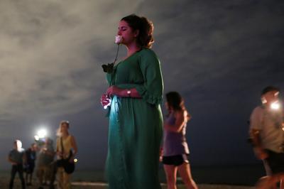 Beachside vigils, memorials and prayers at Surfside building collapse