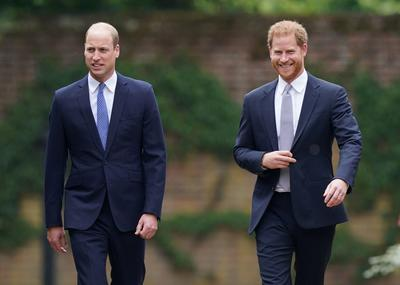 Harry and William put aside feud to unveil statue to Princess Diana