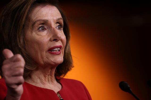 FILE PHOTO: U.S. House Speaker Nancy Pelosi (D-CA) holds her weekly news conference at the U.S. Capitol in Washington, U.S. September 8, 2021.  REUTERS/Jonathan Ernst