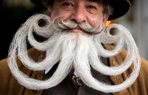 Facial hair aficionados face off at German Moustache and Beard Championships